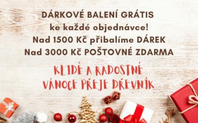 Rozdáváme DÁRKY i DOPRAVU zdarma. Krásný vánoční čas Vám přeje Dřevník.